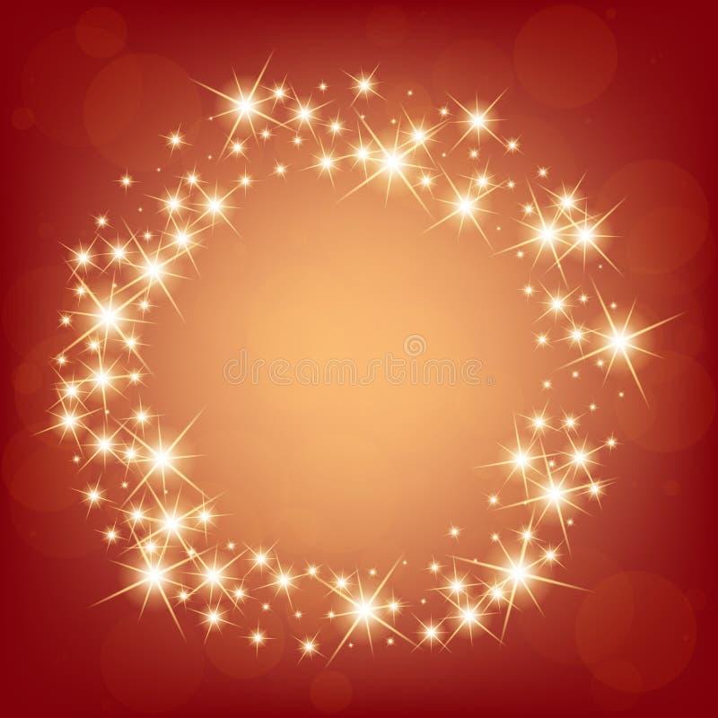 Den idérika begreppsvektoruppsättningen av bristningar för stjärnor för ljus effekt för glöd med mousserar isolerat på svart bakg royaltyfri bild