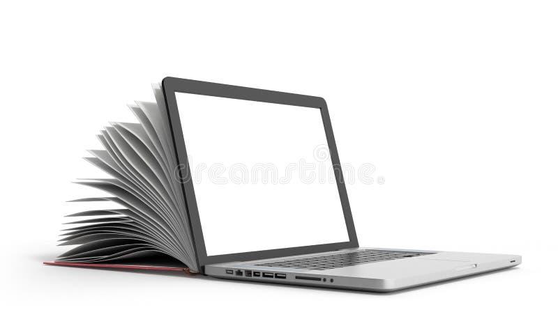 Download Den Idérika E-lärande Begreppsboken Och Bärbara Datorn 3d Framför På Vit Stock Illustrationer - Illustration av tangentbord, kunskap: 78731540