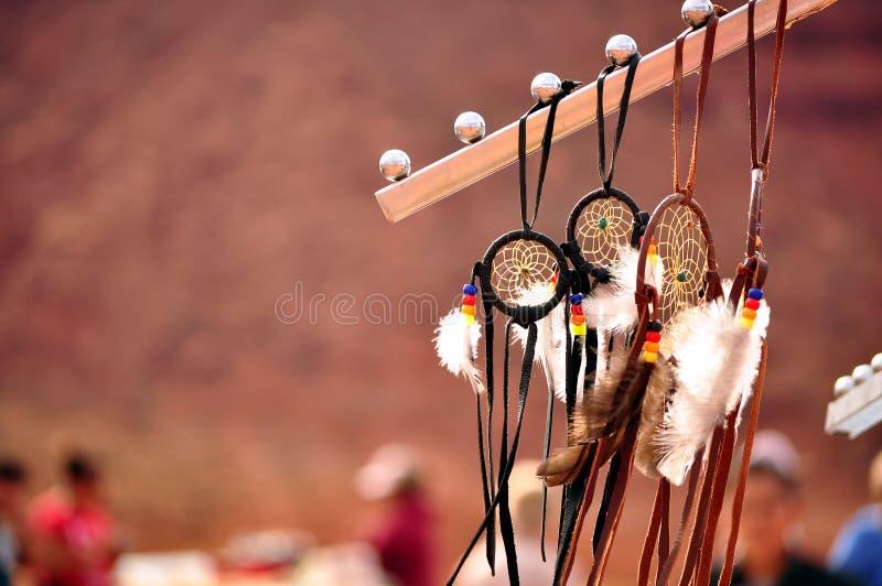 Infödd Navajo Dreamcatcher arkivfoton