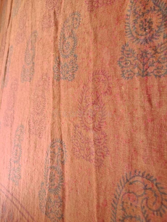 Den indiska sareen planlägger den naturliga vägen arkivbilder