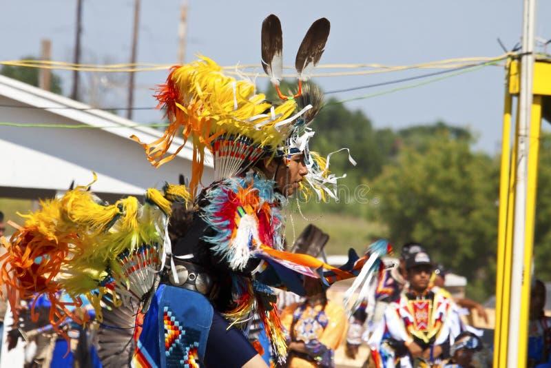 Den infödda powen överraskar South Dakota arkivbild