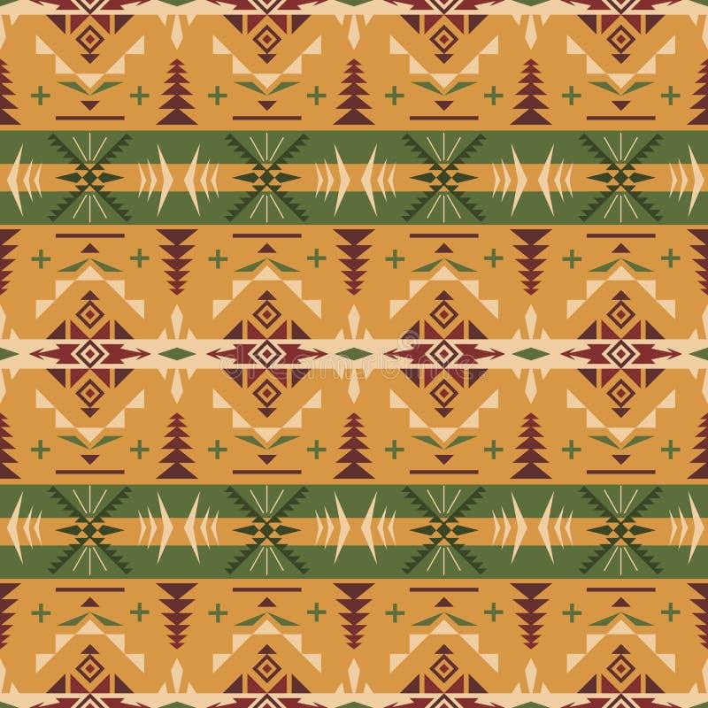 Den infödda sydvästliga amerikanen, indiern, aztec, geometriskt sömlöst klappar vektor illustrationer