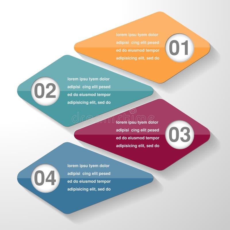 Den Infographic mallbeståndsdelen, affär särar moment eller processar, royaltyfri illustrationer