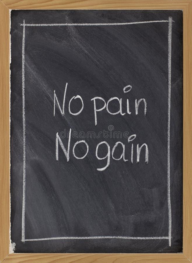 den ingen mottoen för blackboardövningsgain smärtar arkivfoto