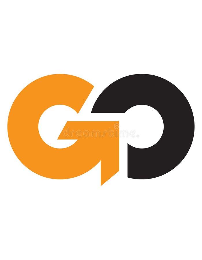 Den initiala bokstaven GÅR, logoen royaltyfri illustrationer
