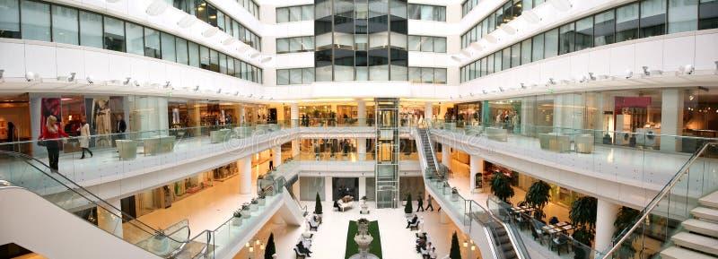 den inre panoramat shoppar arkivfoton