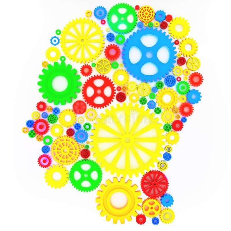 Intellektuell tänkare stock illustrationer