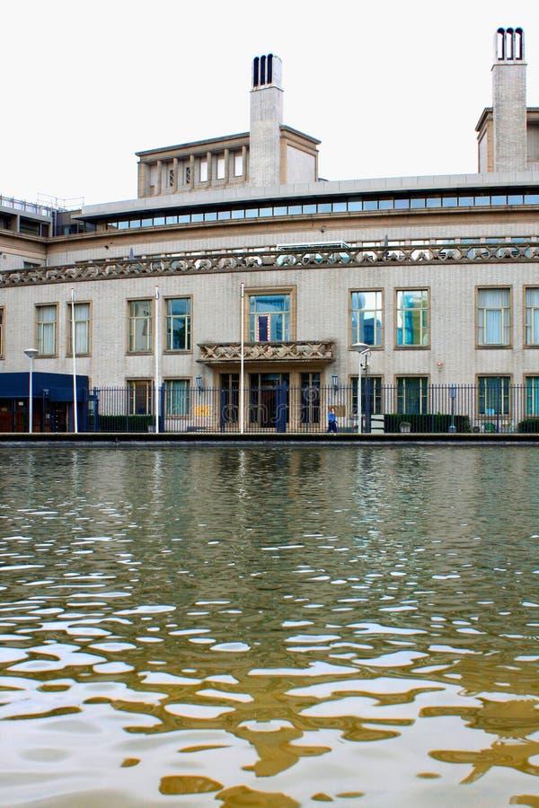 Den internationella FN-domstolen i Haag för krigsbrott i royaltyfri fotografi