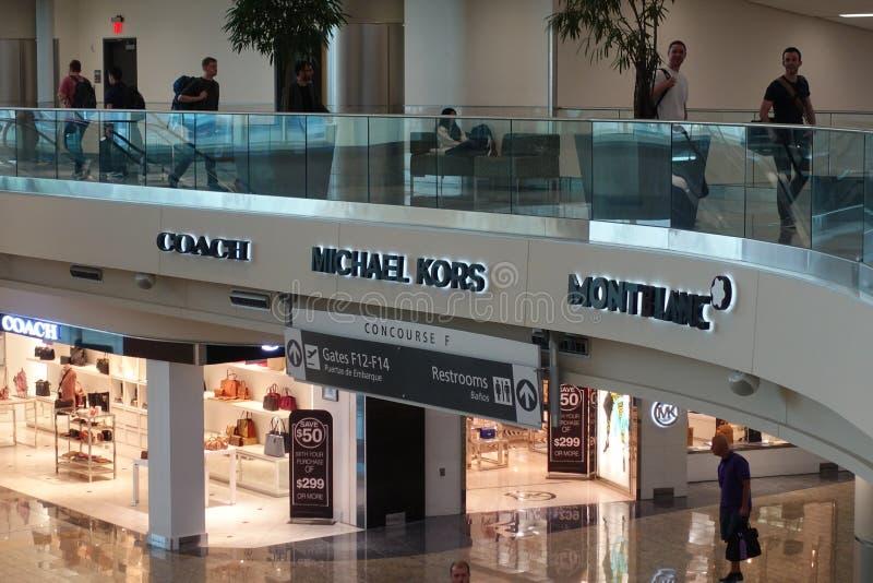 Den internationella terminalen för Atlanta flygplats arkivfoto
