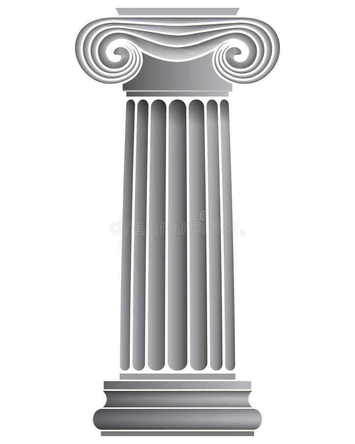 den ionic kolonnen single vektor illustrationer