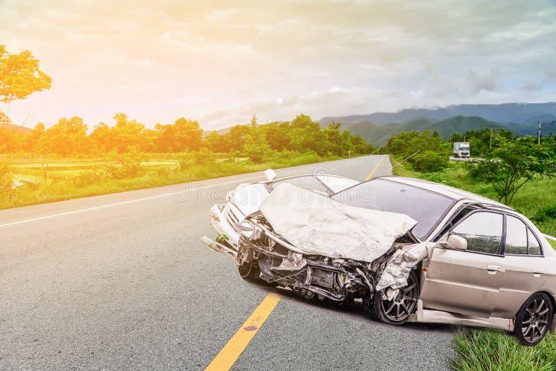 den isolerade bilillustrationen för olyckan 3d framförde white royaltyfri fotografi