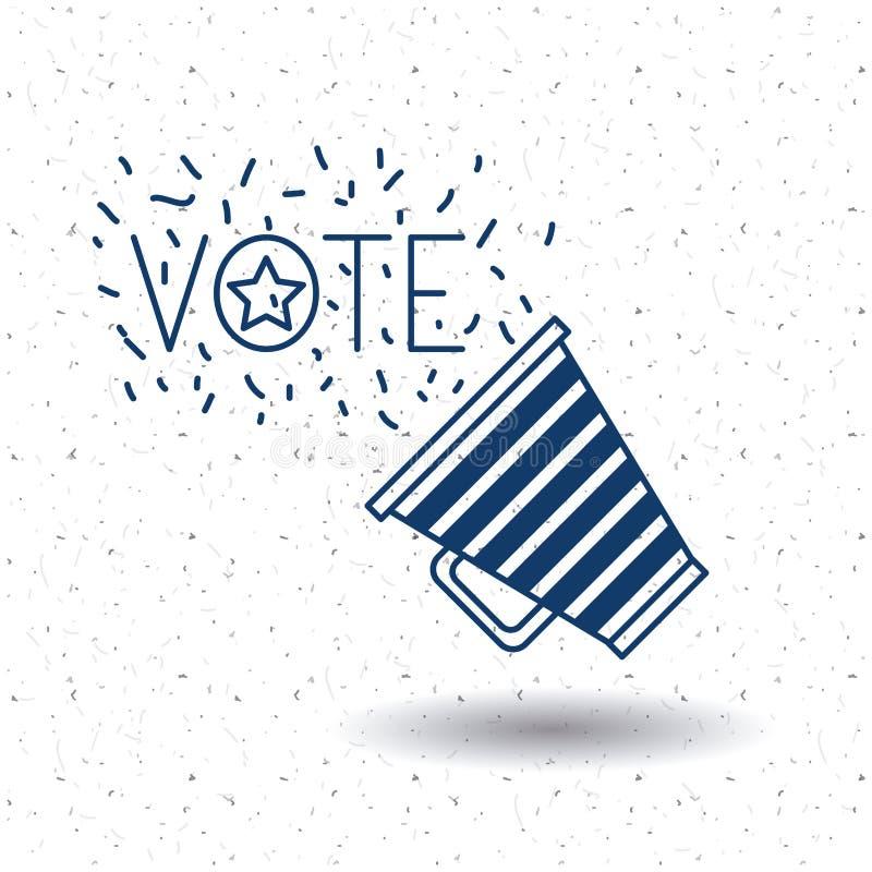 Den isolerade megafonen av röstar begrepp vektor illustrationer