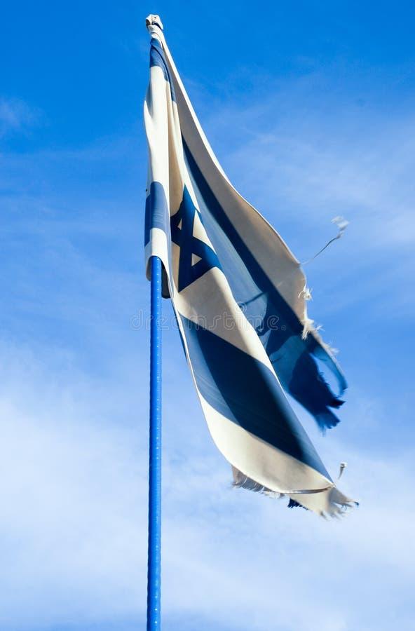 Den Israel flaggan på den israeliska självständighetsdagen royaltyfri fotografi