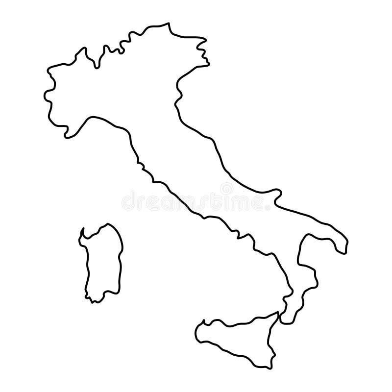 Den Italien översikten av den svarta konturen buktar illustrationen stock illustrationer