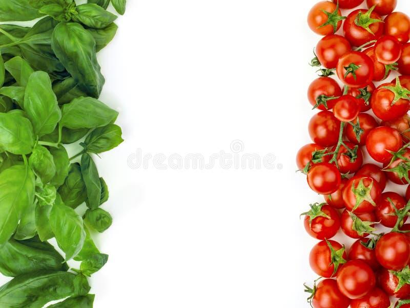 Den italienska flaggan som utgöras av nya grönsaker royaltyfri bild