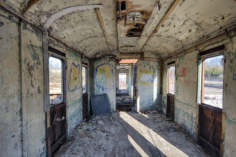 Den järnväg vagnen arkivfoto