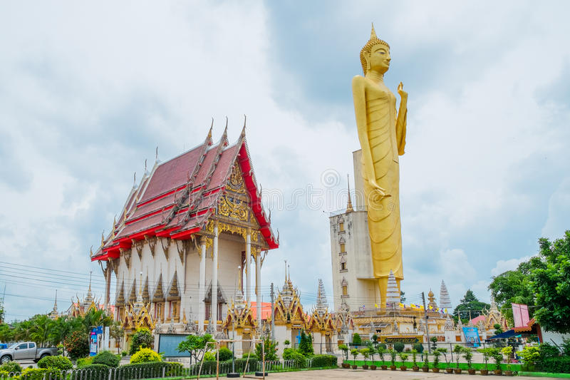 Den jätte- guld- Buddha, buddism, Thailand arkivfoton
