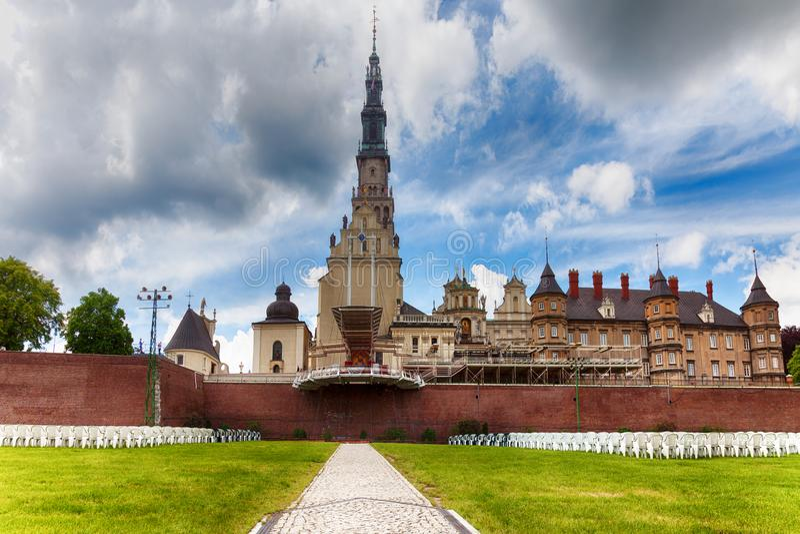 Den Jasna Gora kloster i Czestochowa poland royaltyfria foton