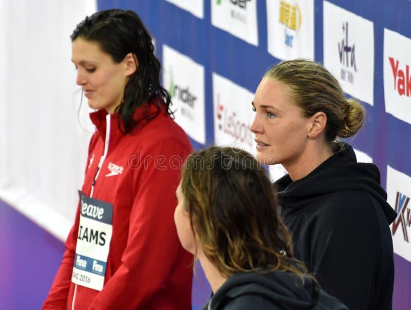 Den Jeanette OTTESEN HÅLAN, WILLIAMS Michelle KAN och SEEBOHM Emily AUS royaltyfri foto