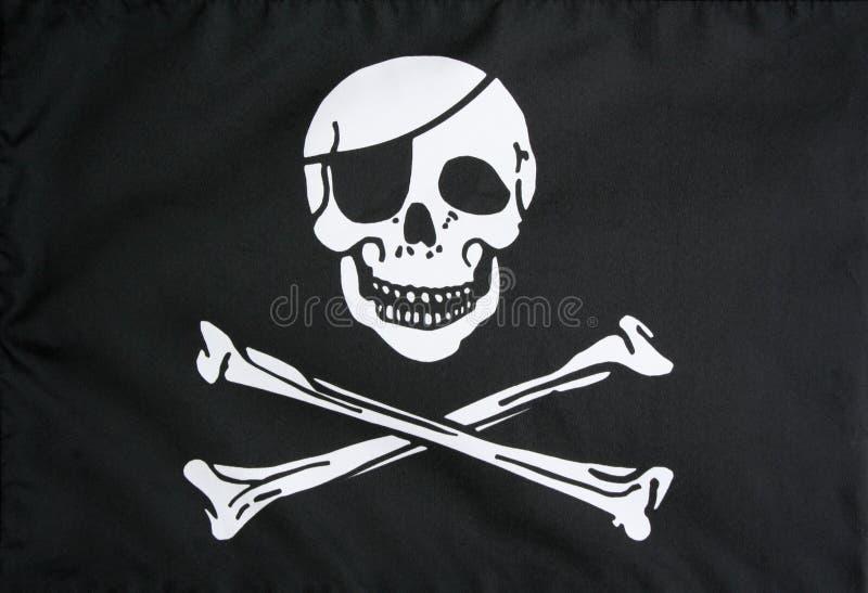 den jolly flaggan piratkopierar roger royaltyfria bilder