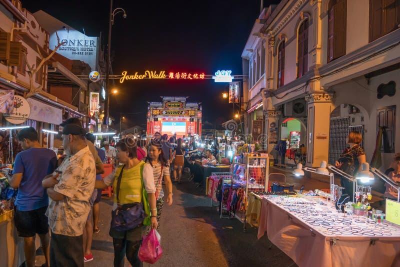 Den Jonker gatan säljer allt från smakliga foods till billiga minnessaker royaltyfria bilder