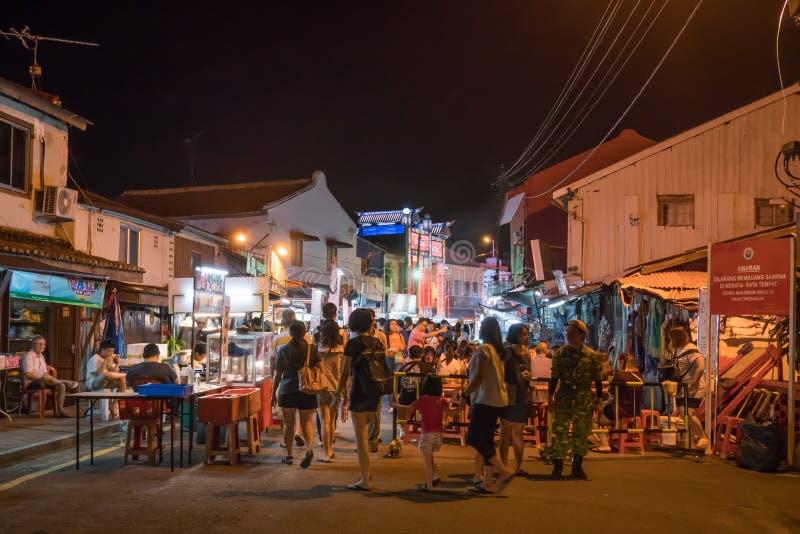 Den Jonker gatan säljer allt från smakliga foods till billiga minnessaker fotografering för bildbyråer
