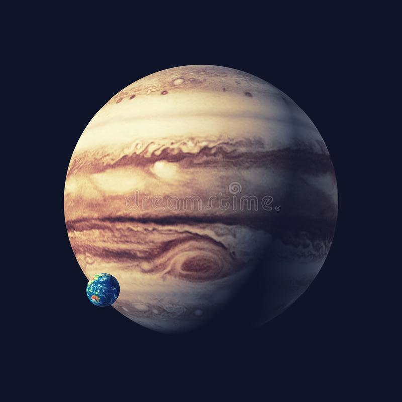 Den jupiter planeten stock illustrationer