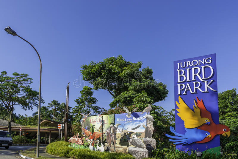 Den Jurong fågeln parkerar i Singapore royaltyfria bilder