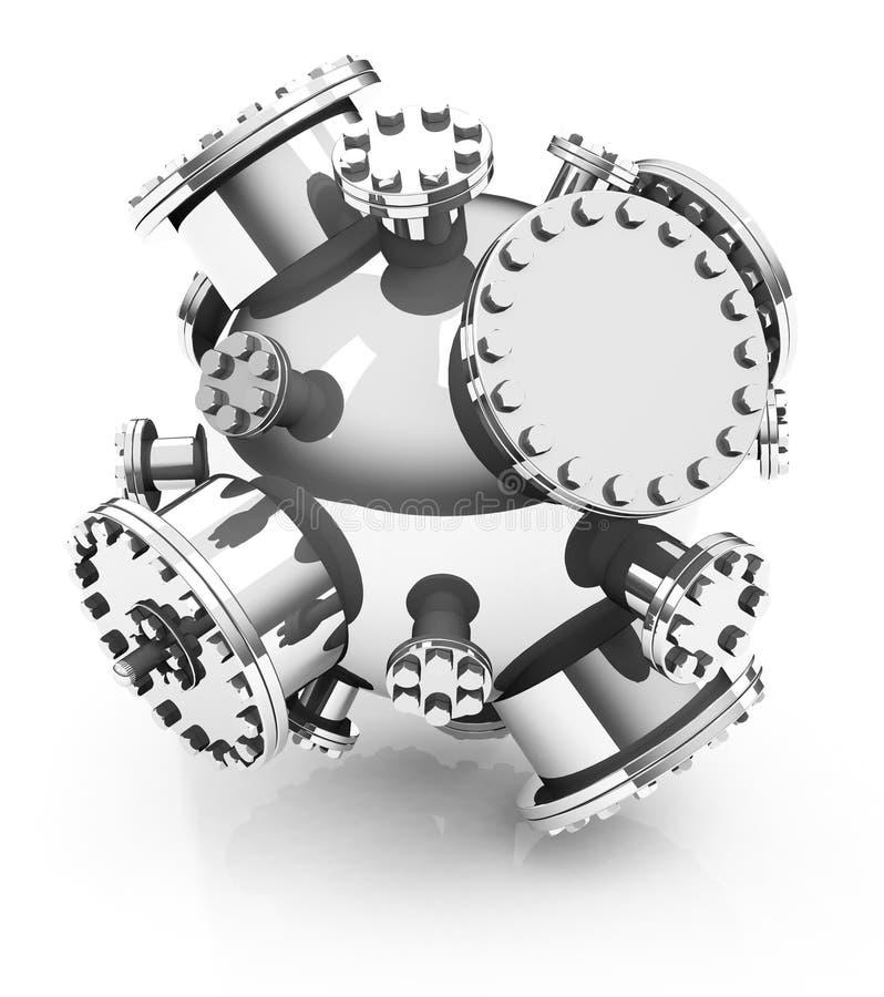 Den kärn- fusionen royaltyfri illustrationer
