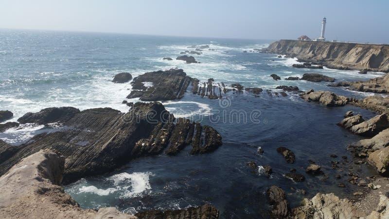 Den Kalifornien kustlinjen bredvid Stilla havet arkivfoto