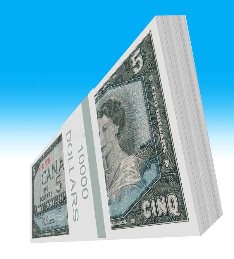 Den kanadensiska dollaren vektor illustrationer