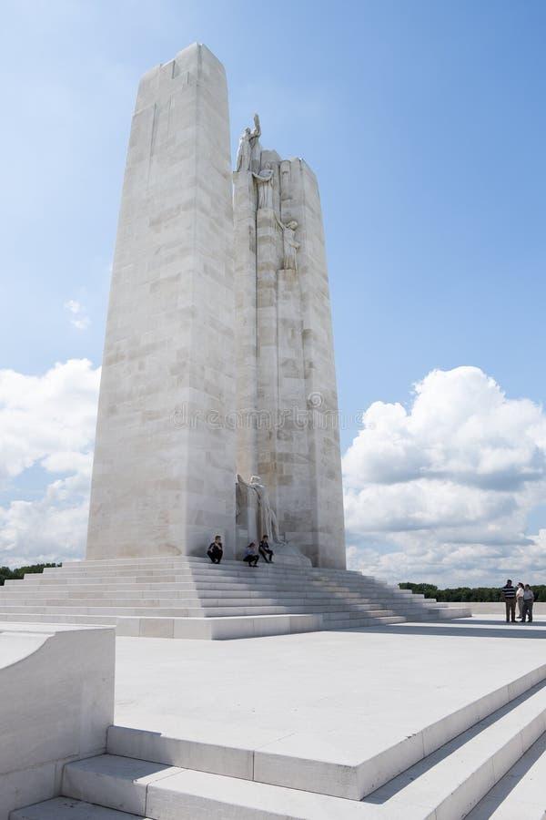 Den kanadensiska medborgareVimy minnesmärken, Frankrike royaltyfri foto