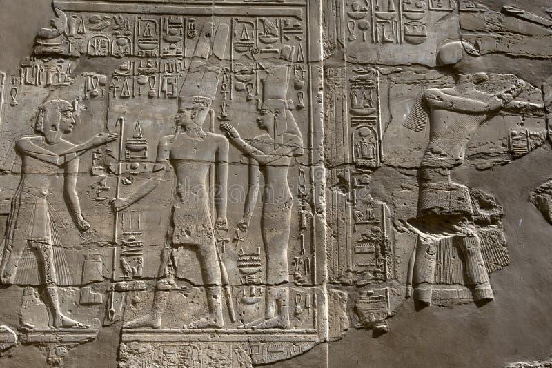 Den Karnak templet (tempel av Amun) i Luxor, Egypten royaltyfria foton
