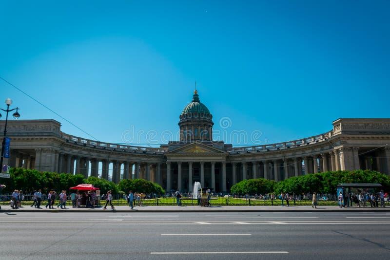 Den Kazan domkyrkan i St Petersburg, Ryssland royaltyfria foton