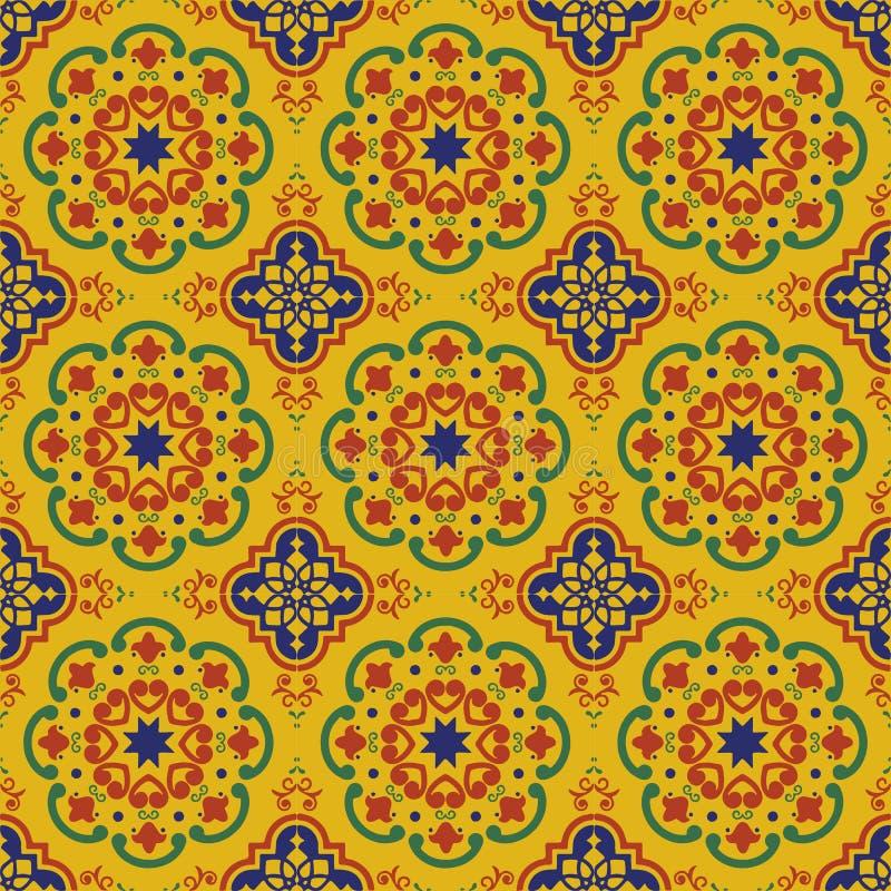 Den keramiska tegelplattan, blåa portugisiska tegelplattor och vita marockanska blåa och vita köktegelplattor för tegelplattor, b arkivbilder
