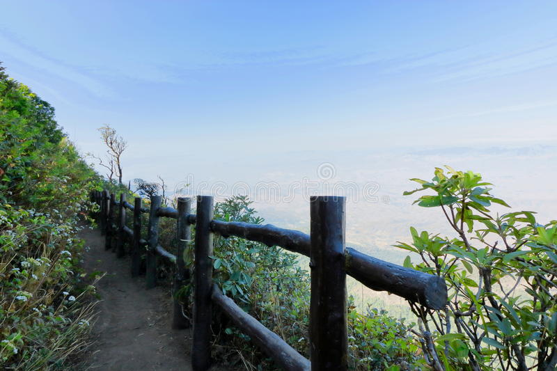 Den Kew Mae Pan naturslingan på den Doi Inthanon natuonalen parkerar, Chaingmai, Thailand royaltyfria foton