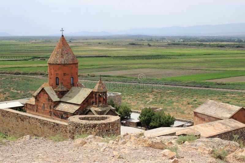 Den Khor Virap kloster royaltyfria bilder