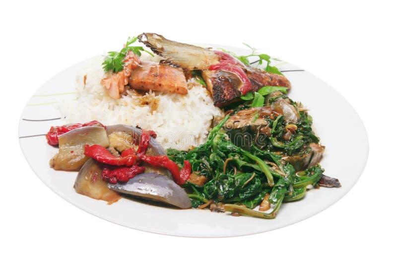 den kinesiska maträtten blandade royaltyfri fotografi