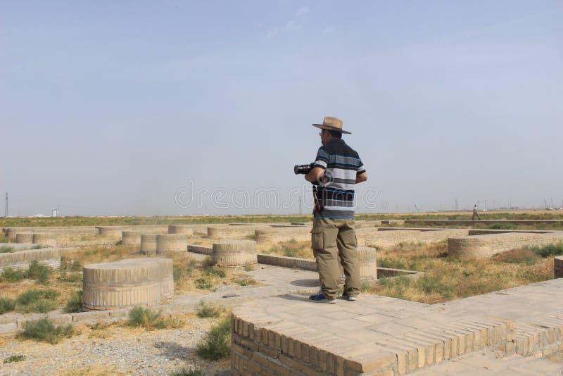 Den kinesiska turisten på den siden- vägen fördärvar fotografering för bildbyråer