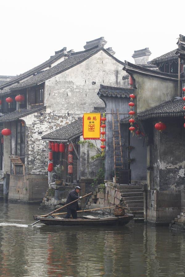 Den kinesiska vattenstaden - Xitang 3 royaltyfri bild