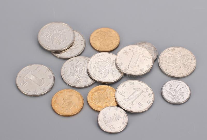 Den kinesiska yuanen myntar en yuan royaltyfri foto