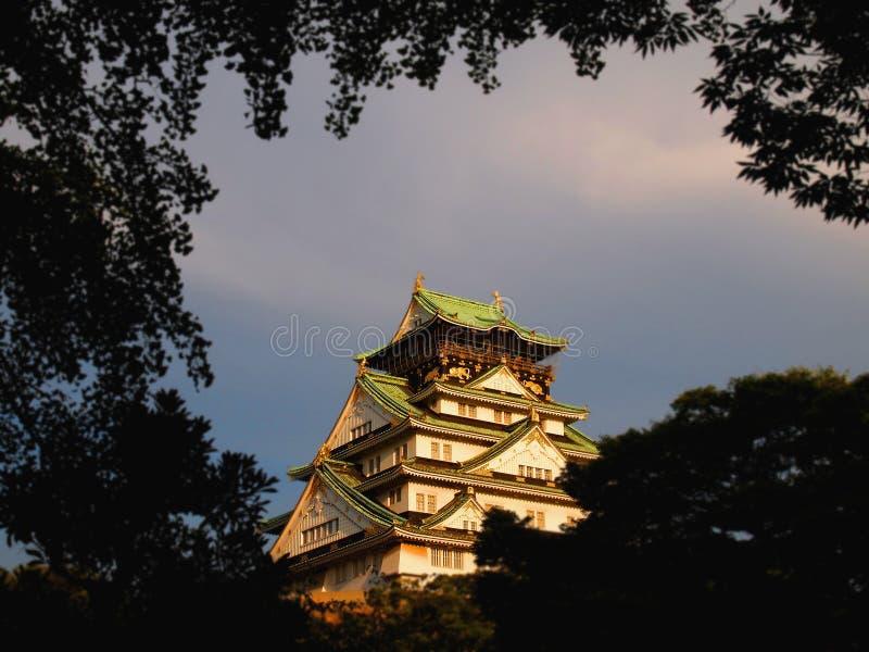 Den klassiska Osaka Castle arkivbild