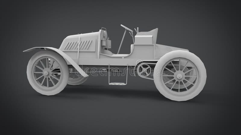 Den klassiska retro tolkningen för bilar 3D resulterar från blandareapplikationen arkivfoton