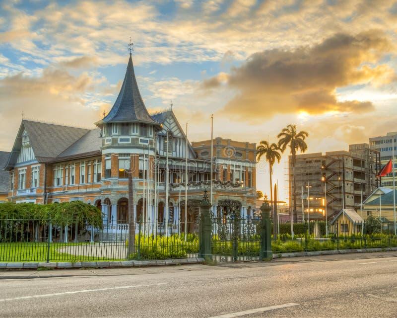 Den Knowsley byggnaden är en arvbyggnad i Trinidad arkivfoto