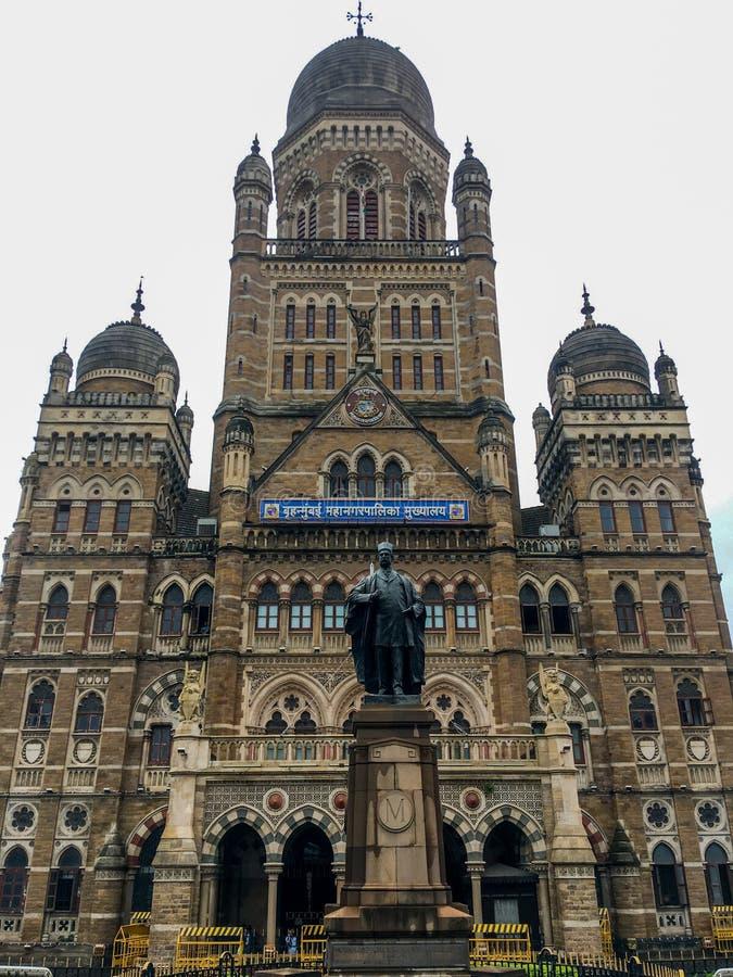 Den Kommunal Korporation byggnaden, Mumbai lokaliserade i södra Mumbai i maharashtraen, Indien är en motsatt arvbyggnad för kvali royaltyfri fotografi
