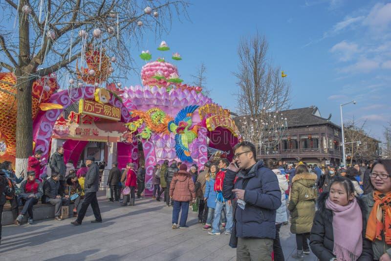 Den Konfucius templet under det kinesiska nya året royaltyfri bild