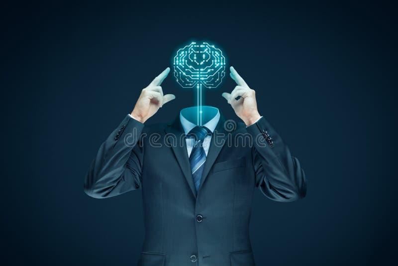 den konstgjorda hjärnan circuits mainboard för elektronisk intelligens för begrepp över arkivbilder