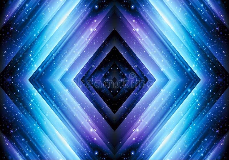 Den konstnärliga datoren för abstrakt begrepp 3d frambragte diamanten formad pileffektbakgrund vektor illustrationer
