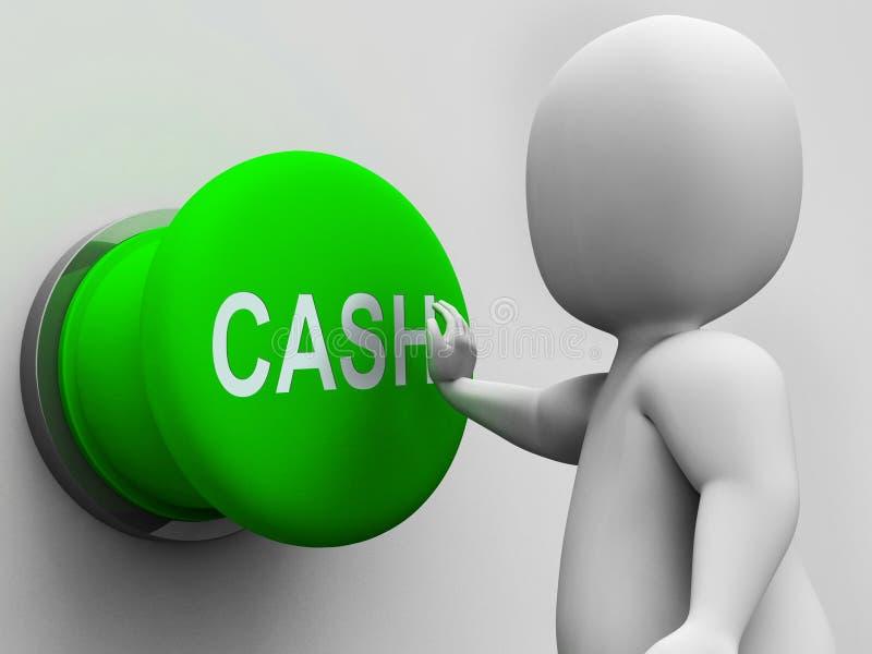 Den kontanta knappen visar pengarförtjänsten och utgifter vektor illustrationer