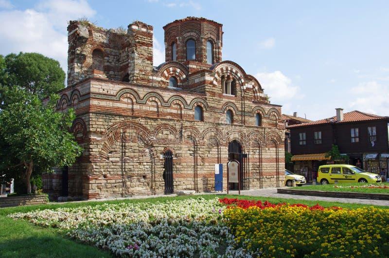 Den KristusPantocrator kyrkan i Nessebar royaltyfri fotografi